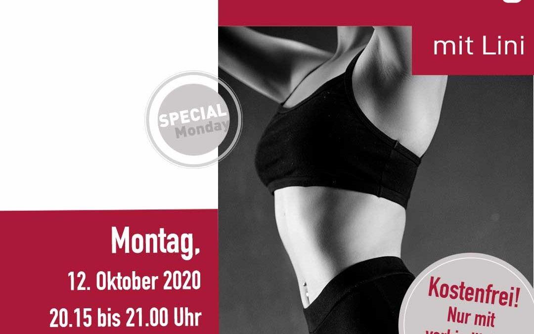 12. Oktober 20:15  Core Training mit Lini- Für einen gesunden und stabilen Rücken