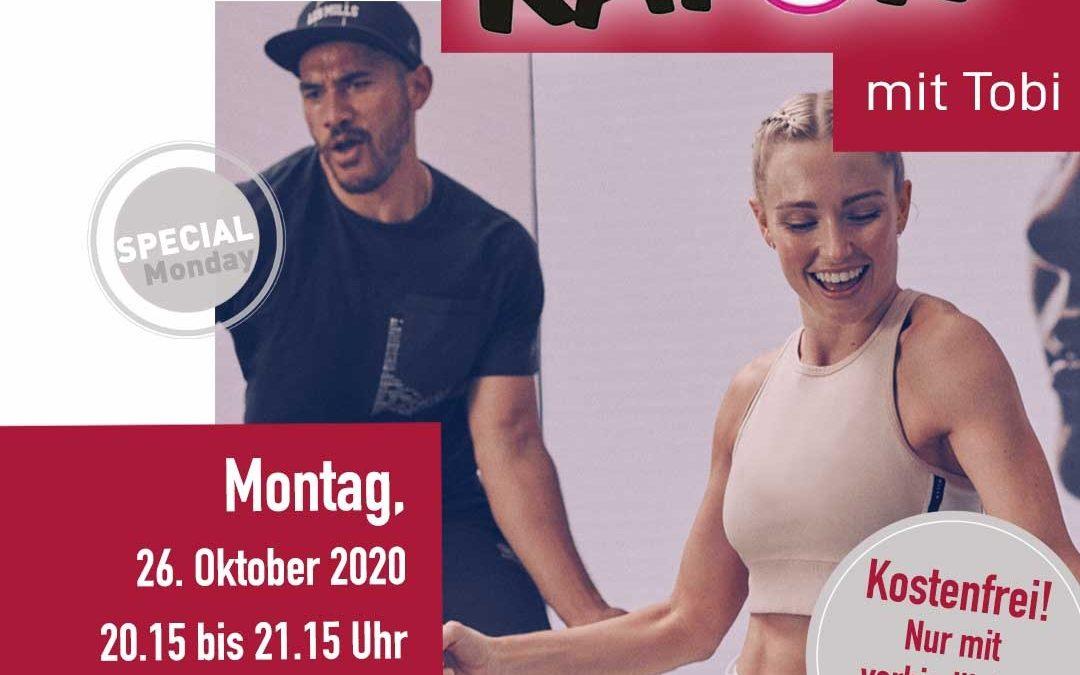 26. Oktober 20:15 Kapow®! mit Tobi!  Der perfekte mix aus Dance und Fuctional Training!