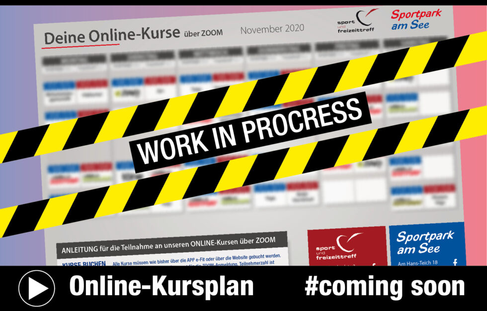 Online-Kursplan COMING SOON