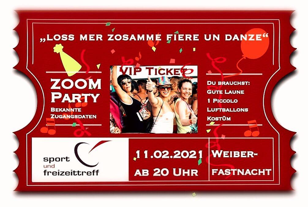 "WEIBERFASTNACHT ZOOM-KarnevalsParty – ""Loss Mer Zosamme Fiere Un Danze"""